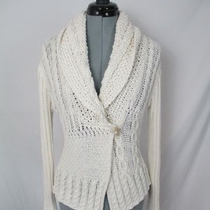 Rebecca Elliot Cardigan Sweater Wrap Look Ivory